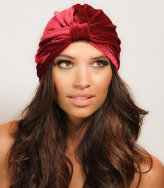 Velvet Full Turban Headband Headwrap Ear Warmer Hat