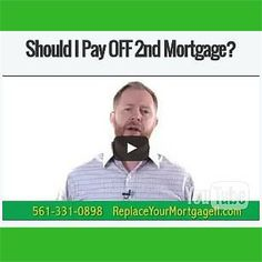 Should you pay off the 2nd Mortgage?  Find out inside @replaceyourmortgageflblog  We help you learn how to use a HELOC to pay off your home much faster than a traditional 30 year fixed amortized mortgage!  #mortgages #mortgagebrokers #mortgagelife #mortgageloans #mortgagebroker #mortgagerates #mortgageloan #mortgageexpert