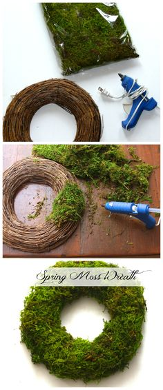 How to make a Moss Wreath. Spring Moss Easter Wreath.