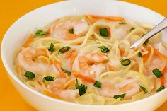 coconut shrimp soup - Not one of our favorites, and very hard to eat if you don't break the noodles down to short pieces! -Abi