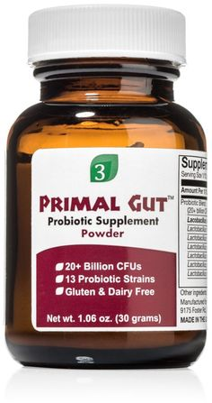 Primal Gut™ Powder is a premium probiotic for people who may have experienced some benefits of probiotic supplements but want more, or people who are not satisfied with their current probiotic. A synergistic blend of 13 strains of bacteria Primal Gut™ Powder is a comprehensive blend of clinically proven bacteria. The blend consists of a ratio of strains that maximizes benefits while minimizing the production of: Histamine D-Lactic acid Amount Per 1/12 rounded teaspoon (20+ Billion CFUs) ...