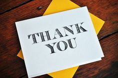 Thank You Letterpress Card Set of 4 by PalmettoPress on Etsy, $12.00