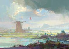 Journey, Theo Prins on ArtStation at https://www.artstation.com/artwork/KrvQG