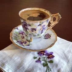 Violets.....and coffee