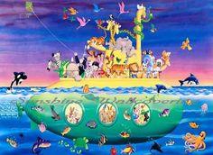 Noah's Sub Wall Mural X-Large RA0184M