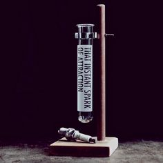 [fromthemomentifirstsawyou]  etched test tube with stand and spark plug.  #valentinesgift