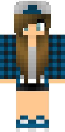 Fixed Skater Girl Skin | Minecraft Skins