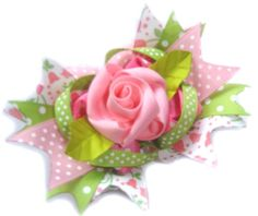 Rose Hair Bow Clippy