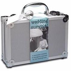 This Bride's Wedding Day Emergency Survival Kit is the perfect gift for the bride to be.  The survival kit for has 30 must have items a bride needs for any emergency that may arise on her wedding day.