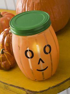 Martha Stewart Glass Paint Pumpkin Lantern to brighten up any chilly night!