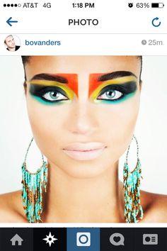 Wild makeup...I kinda like it #tribal
