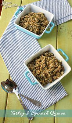 Quinoa Recipes Collection , Turkey and Spinach Quinoa Recipe