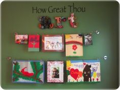 In LOVE with this idea of displaying childrens art