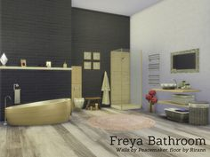 Freya Bathroom.  Found in TSR Category 'Sims 4 Bathroom Sets'