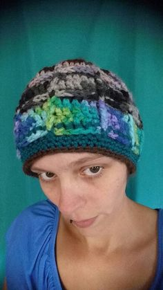 Hey, I found this really awesome Etsy listing at https://www.etsy.com/listing/472891959/ooak-scrappy-crochet-windowpane-beanie