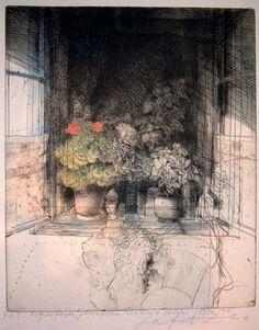 Safet Zec . window still life sketch
