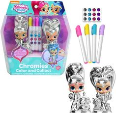 Their wish has been granted! Let the kids have fun customizing their favorite characters with the Shimmer & Shine Chromies. Kids Toy Shop, Toy Cars For Kids, Toys For Girls, Toddler Girl Gifts, Baby Girl Toys, Minnie Mouse Nursery, Baby Dolls For Toddlers, Frozen Coloring Pages, My Little Pony Dolls