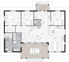Puistolahti / Kontio Best House Plans, Small House Plans, Craftsman Floor Plans, Bungalow, Cottage House Plans, Architecture Plan, Detached House, Future House, Home Remodeling