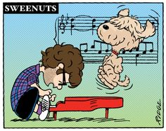 Peanuts + Josh Groban and his dog Sweeney