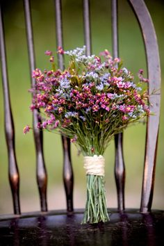 Multicolored wildflower wedding bouquet - Simple and pretty. I like these for bridesmaid bouquets. Maybe this for a bridal bouquet with rannaculas or dalias? Floral Wedding, Fall Wedding, Rustic Wedding, Wedding Flowers, Boho Wedding, Wedding Ideas, Trendy Wedding, Wildflowers Wedding, Simple Wedding Bouquets