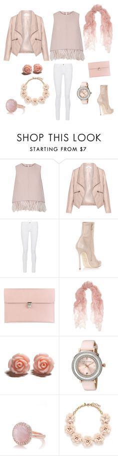 """""""Pink blink"""" by fatimanazstar ❤ liked on Polyvore featuring The 2nd Skin Co., Zizzi, Frame Denim, Dsquared2, Alexander McQueen, Valentino, Ted Baker, Oasis, J.Crew and women's clothing"""