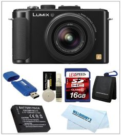 Panasonic LUMIX DMC-LX7 (Black) + Camera Case + Spare Battery + 16GB SDHC Deluxe Kit by Panasonic. $389.00. THE LUMIX LX7 - FEATURES A FULLY REDESIGNED LENS, IMAGING PROCESSOR AND ENGINE FOR POWERFUL PERFORMANCE AND OUTSTANDING PICTURE QUALITY The Willoughby's Panasonic Kit Includes: 1. Panasonic LUMIX DMC-LX7 10.1 MP Digital Camera with 7.5x Intelligent zoom and 3.0-inch LCD (Black) 2. Spare DMW-BCJ13 Lithium-Ion Battery 3. LexSpeed 16GB Class 10 SDHC Memory Card 4. ...