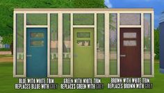 Mod The Sims - Color Overhaul for Modern Maxis Door