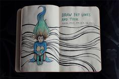 Wreck This Journal: Page 10, 11 by MarketaKindlova on DeviantArt