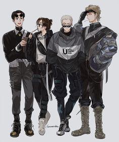 Anime Naruto, 5 Anime, Fanarts Anime, Anime Guys, Attack On Titan Funny, Attack On Titan Ships, Attack On Titan Fanart, Levi Ackerman, Armin