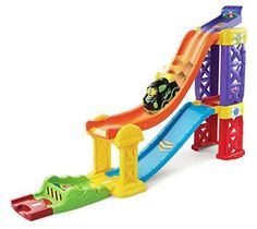 Race Car Track Ramp Launch Toddler Vehicles Slide Cars