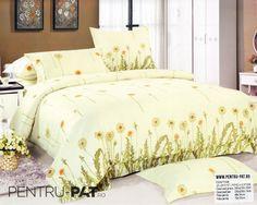 Lenjerie de pat bumbac satinat Casa New Fashion cu papadie Comforters, Satin, Blanket, Bed, Home, Stream Bed, House, Elastic Satin, Ad Home