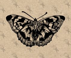 Butterfly Vintage image Instant Download Digital printable clipart graphic - scrapbooking, burlap, kraft, mail art etc HQ 300dpi by UnoPrint on Etsy #hq #png #bw #Ephemera #diy #old #book #illustration #gravure #inspiration #retro #antique #vintage #300dpi #craft #draw #drawing #black #white #printable #crafts #transfer #decor #hand #digital #collage #scrapbooking #quality