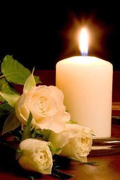 Candle In The Wind, Rose Candle, White Roses, White Flowers, Iphone Wallpaper Smoke, Old Lanterns, Good Night Friends, Blessed Mother Mary, Happy Birthday Funny