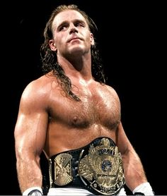 Shawn winning the WWF Championship belt for the first time at Wrestlemania 12 -- March 31, 1996.