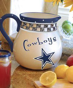 Dallas Cowboys Game Day Pitcher #zulily #zulilyfinds