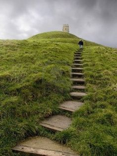 Glastonbury Tor, Somerset, England. Been several times and hope to go back again one day. <3