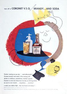 coronet brandy - paul rand 1950