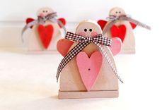 Love romantic gift Valentine Angel wood primitive by MyBrightFair
