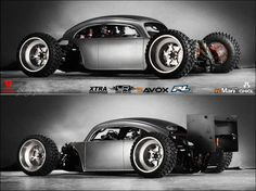 Cox la Coccinelle sexy - What's the Best Insurance for Modified Cars? Vw Rat Rod, Rat Rod Cars, Vw Cars, Rat Rods, Vw T1 Camper, Volkswagen Type 3, Custom Vw Bug, Custom Cars, Weird Cars