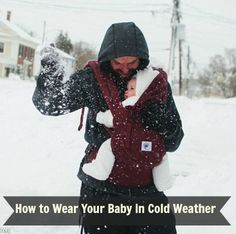 Tips for Cold Weather and Winter Babywearing!