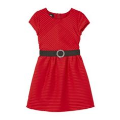by&by Girl Red Pleated Belted Dress - Girls 7-16  found at @JCPenney