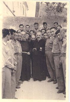 """Padre Pio (1887-1968). There are many accounts of American bombers during WWII, sent on a mission to bomb San Giovanni in Southern Italy, seeing a monk appear in the sky, in front of the plane, waving his arms and telling them to turn back. They all did. They later heard about a holy monk living nearby and went to visit him. It was Padre Pio, and they confirmed that he was the """"flying monk"""" that appeared to them. None of the missions to bomb San Giovanni succeeded."""