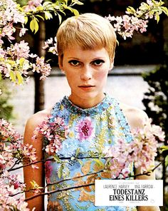 Mia Farrow promotional photoshoot for A Dandy in Aspic, 1968
