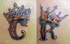 C n R Letters Crown Tattoo Designs photo - 1 Belly Tattoos, Finger Tattoos, Body Art Tattoos, Tattoo Drawings, Letter C Tattoo, King Queen Tattoo, Crown Tattoo Design, Cool Lettering, Matching Tattoos