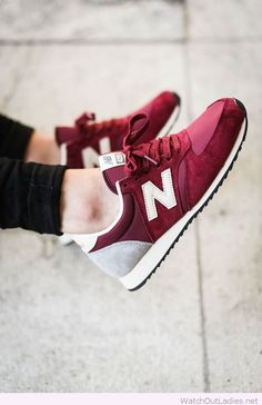 Burgundy/Maroon New Balance Sneakers