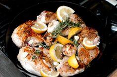 Cindy Pawlcyns Lemon-Garlic Chicken