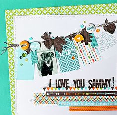 Lawn Fawn - Into the Woods collection _ I-Love-You---Layout by Melissa M