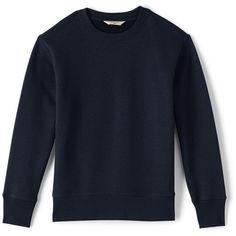 School Uniform Crew Sweatshirt ❤ liked on Polyvore featuring tops, hoodies, sweatshirts, crew-neck tops, blue sweatshirt, crew top, blue top and crew-neck sweatshirts