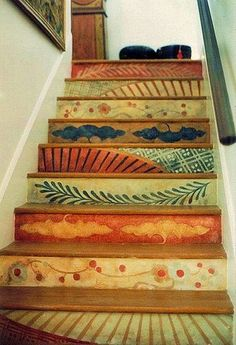 I want this kind of colorful stairs!