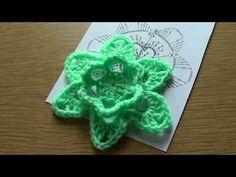 Pretty rose motif!  Вязание крючком. Объемный цветок 1
